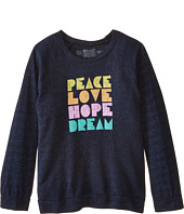 The Original Retro Brand Kids - Peace Love Hope Lightweight Fleece Sweatshirt (Little Kids/Big Kids)