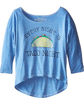 The Original Retro Brand Kids - Taco Night 3/4 Dolman Top (Little Kids/Big Kids)