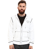 True Religion - Long Sleeve Contrast Stitch Big T Hoodie