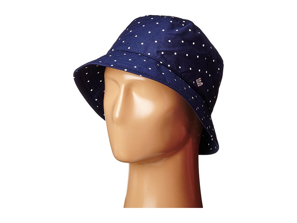 Columbia Adult Bucket Hat Collegiate Navy/Polka Dot Bucket Caps