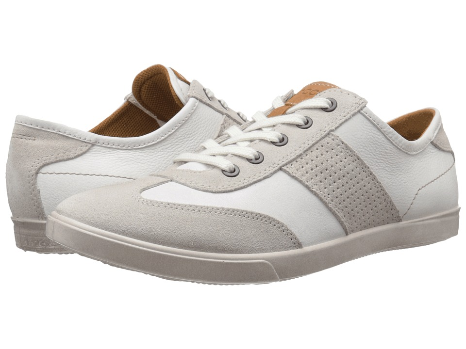 ECCO Collin Retro Sneaker Gravel/White Mens Shoes