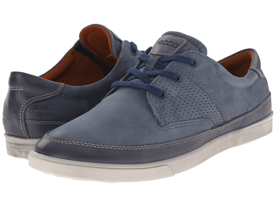 ECCO Collin Nautical Perf Marine/Denim Blue Mens Shoes