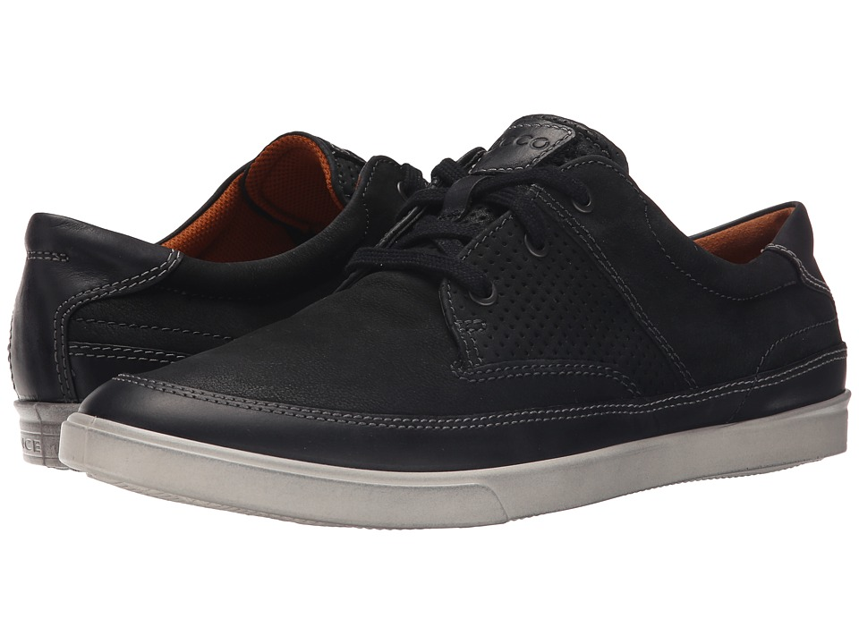 ECCO Collin Nautical Perf Black/Black Mens Shoes