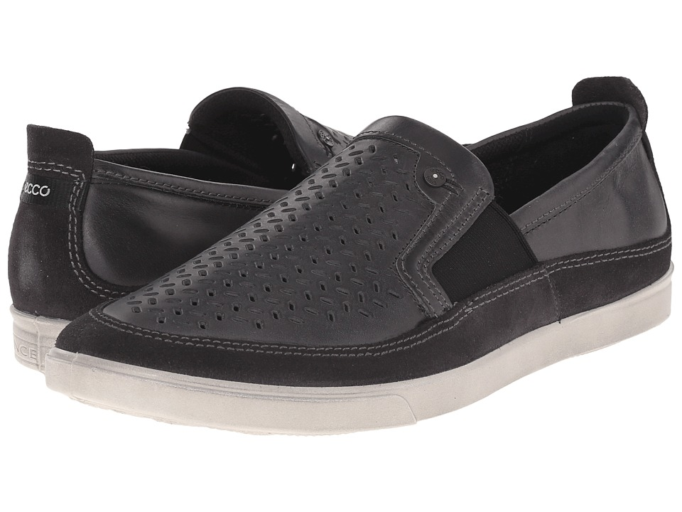 ECCO Collin Perf Slip On Moonless/Moonless Mens Shoes