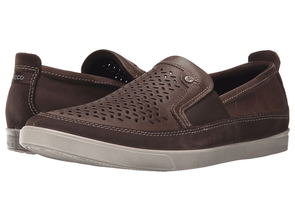 ECCO Collin Perf Slip On Dark Clay/Dark Clay Mens Shoes
