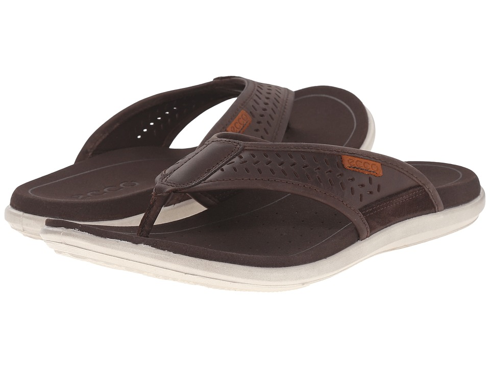 ECCO Collin Thong Coffee/Coffee Mens Sandals