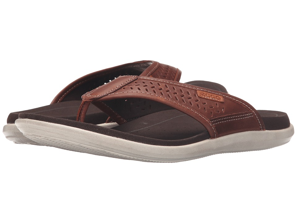 ECCO Collin Thong Bison/Cognac Mens Sandals