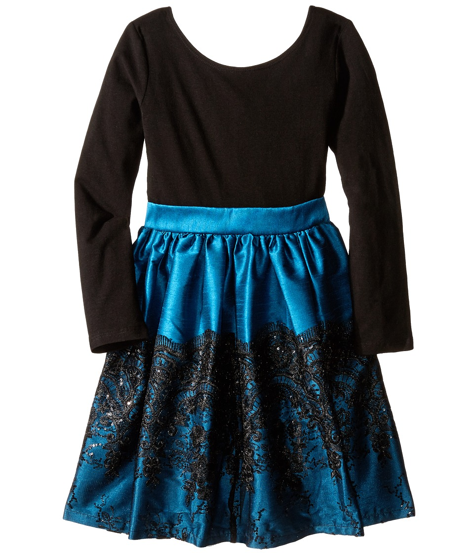 fiveloaves twofish Bella Cora Dress Little Kids/Big Kids Turquoise Girls Dress