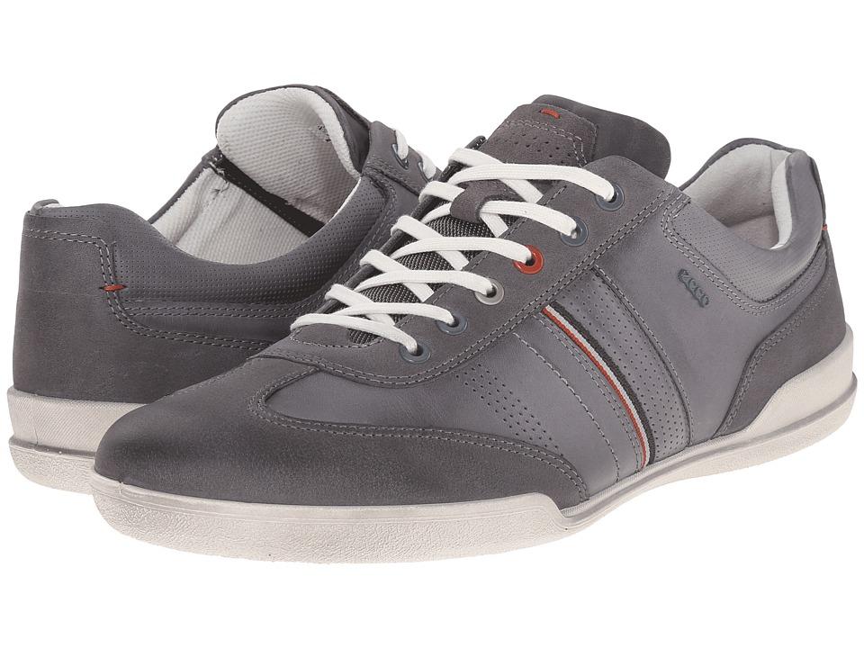 ECCO - Enrico Retro Sneaker (Moonless/Titanium) Men