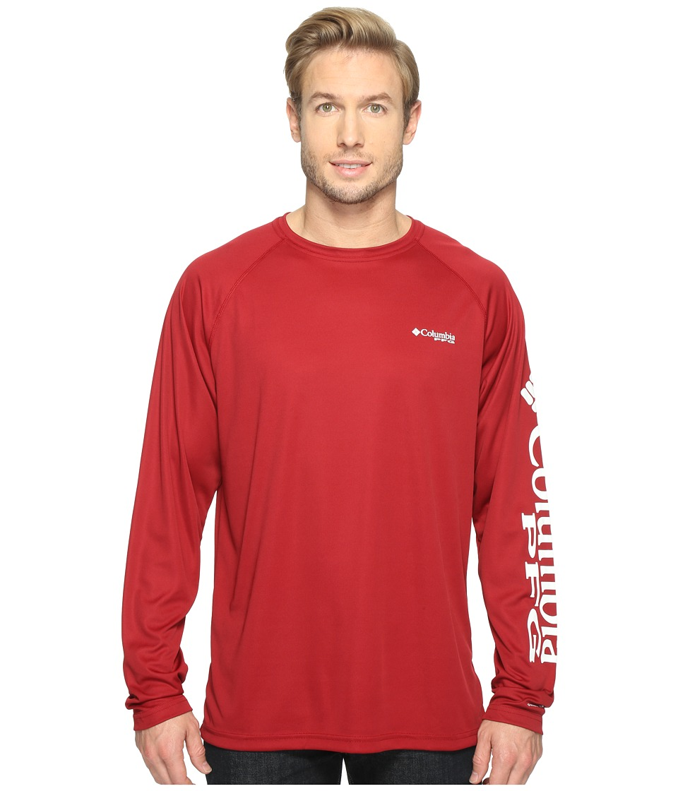 Columbia Terminal Tackle L/S Shirt (Beet/White Logo) Men