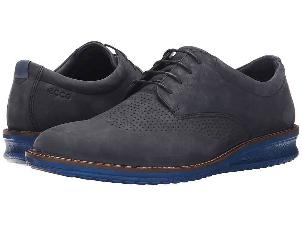 ECCO Contoured Brogue Navy/True Navy Mens Shoes