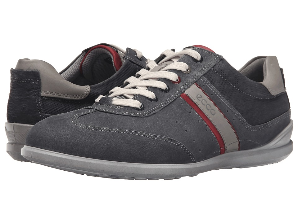 ECCO Chander Casual Tie Moonless/Port/Wild Dove Mens Lace up casual Shoes