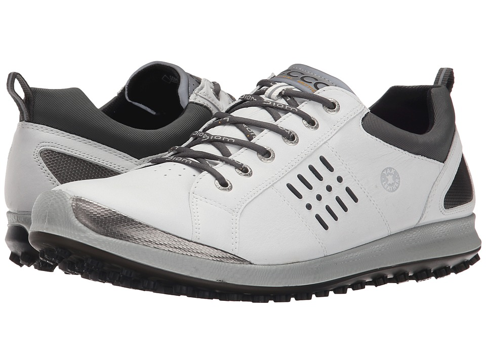 ECCO Golf - BIOM Hybrid 2 GTX (White/Black) Men's Shoes