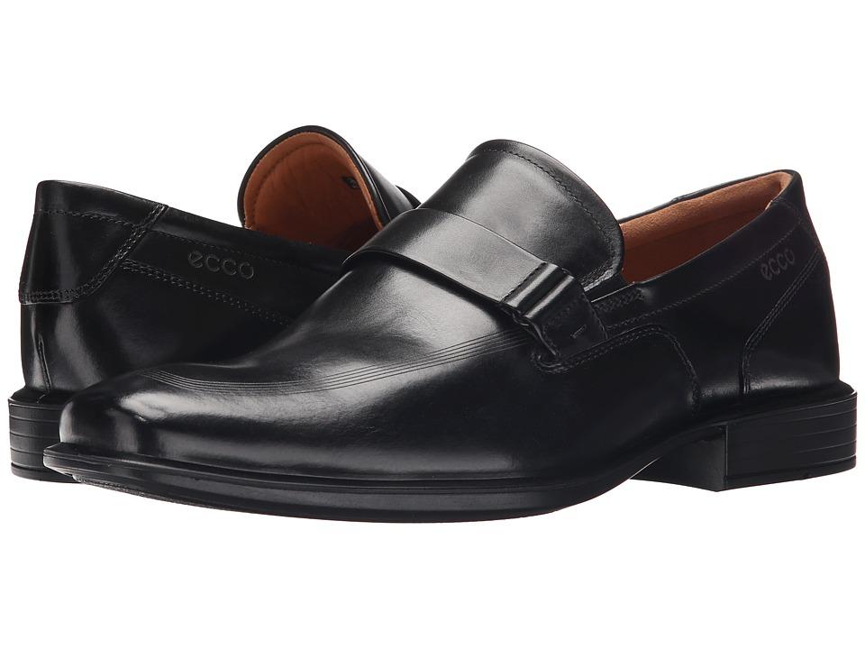 ECCO Cairo Apron Toe Slip On Black Mens Shoes