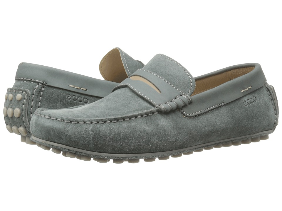 ECCO Dynamic Moc Moon/Moon/Navajo Brown Mens Slip on Shoes