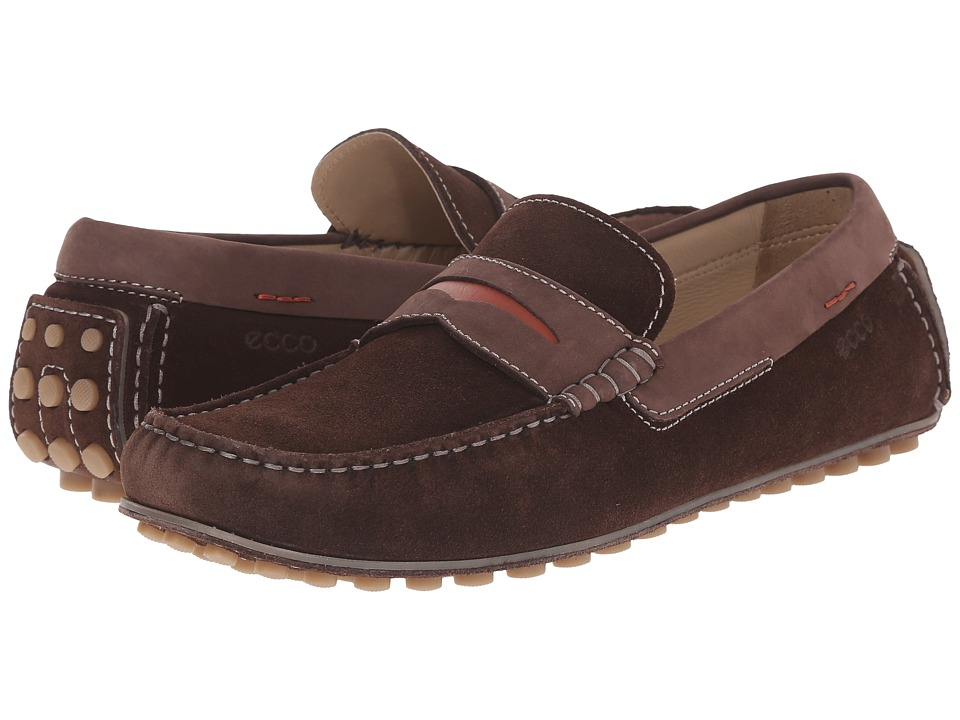 ECCO Dynamic Moc Mocha/Mocha/Picante Mens Slip on Shoes