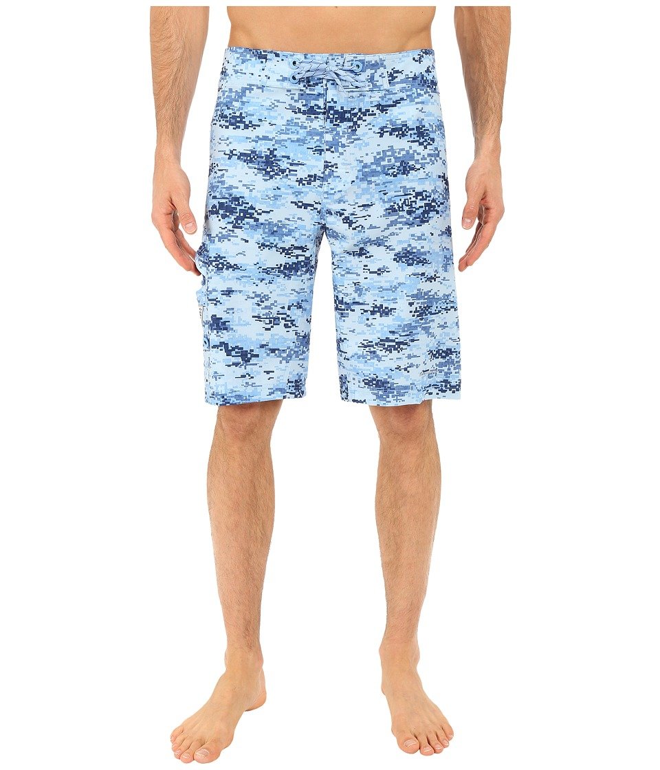 Columbia PFG Offshore Boardshort White Cap Digi Camo Print Mens Swimwear