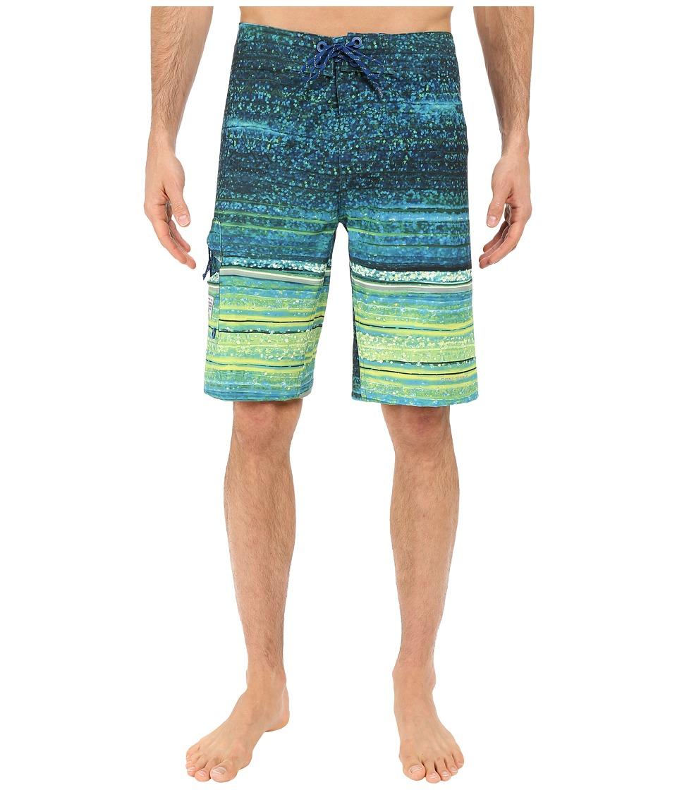 Columbia PFG Offshore Boardshort Marine Blue Lure Print Mens Swimwear