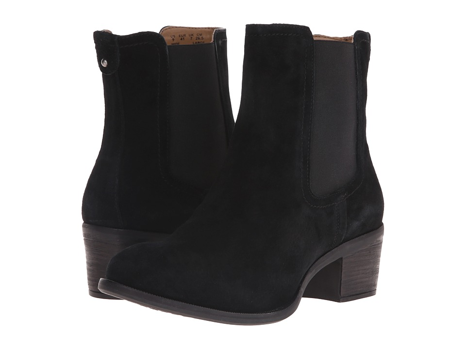 Hush Puppies Landa Nellie Black Suede Womens Pull on Boots