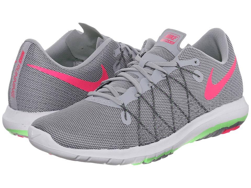Nike Flex Fury 2 (Wolf Grey/Voltage Green/Dark Grey/Hyper Pink) Women