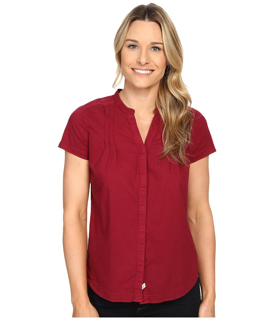 Woolrich Clare Woods Short Sleeve Shirt Wildberry Womens Short Sleeve Button Up