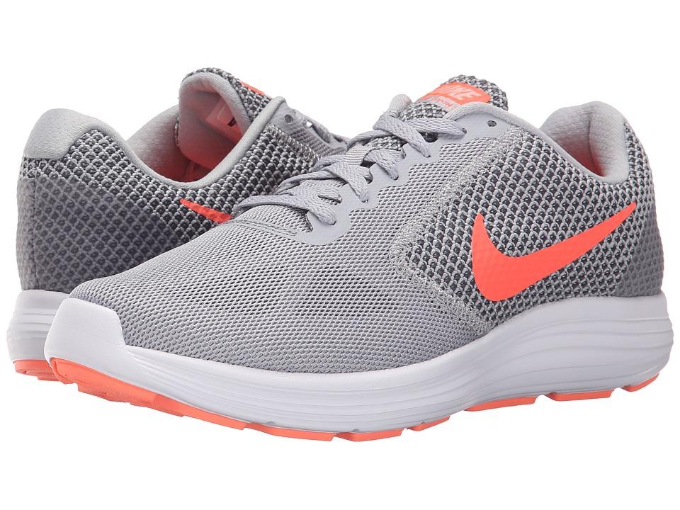 312b06316ca8 ... Women s Revolution 3 Running Shoes (Grey Hyper Orange) UPC 666003083220  product image for Nike - Revolution 3 (Wolf Grey Cool Grey