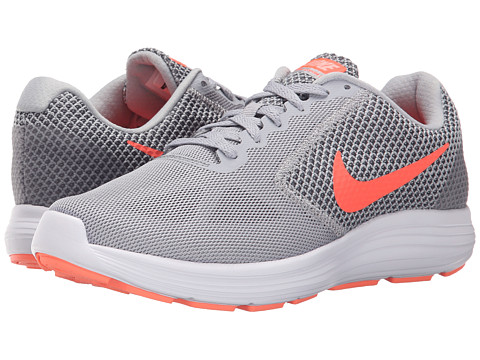Nike Revolution 3 - Wolf Grey/Cool Grey/Atomic Pink/Hyper Orange
