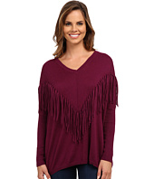 DKNY Jeans - Fringe Accented Dolman Pullover