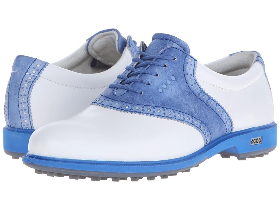 ECCO Golf - Classic Golf Hybrid II (White/Cobalt) Womens Golf Shoes