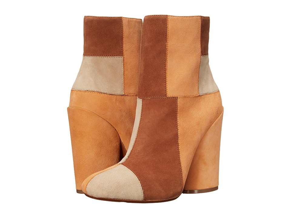 10 Crosby Derek Lam Emery Toffee/Apricot/Khaki Fine Suede Womens Boots