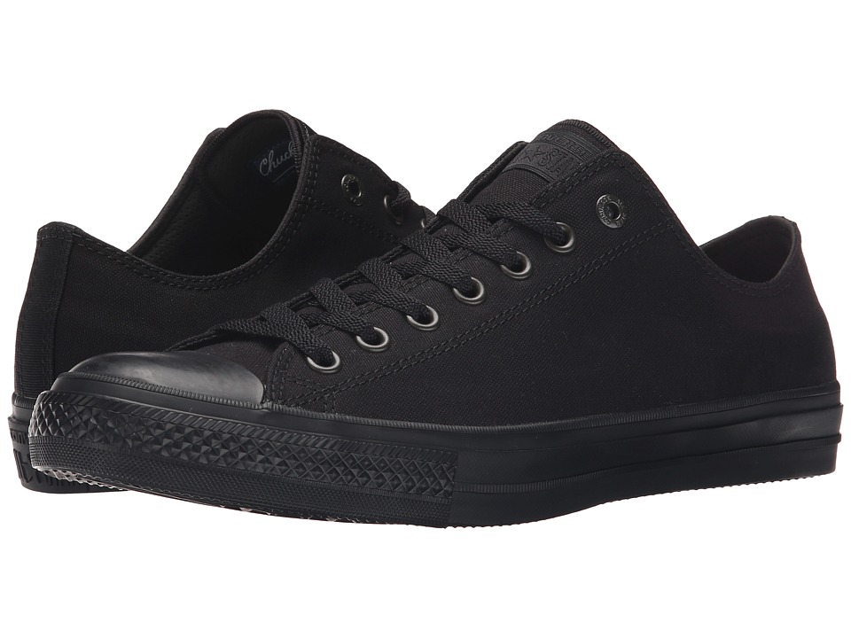 Converse Chuck Taylor All Star II Premium Canvas Mono Ox (Black/Black/Black) Classic Shoes