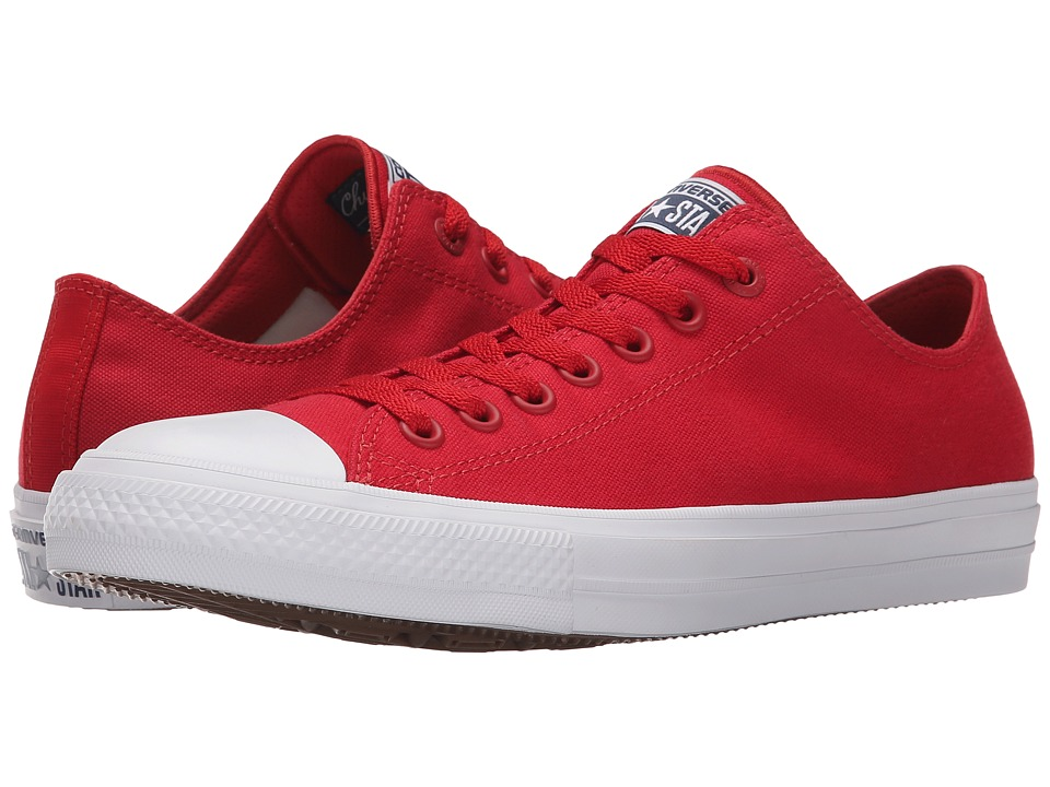 Converse Chuck Taylor All Star II Ox Salsa Red/White/Navy Classic Shoes