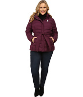 U.S. POLO ASSN. - Plus Size Puffer Parka with Self Belt and Detachable Hood