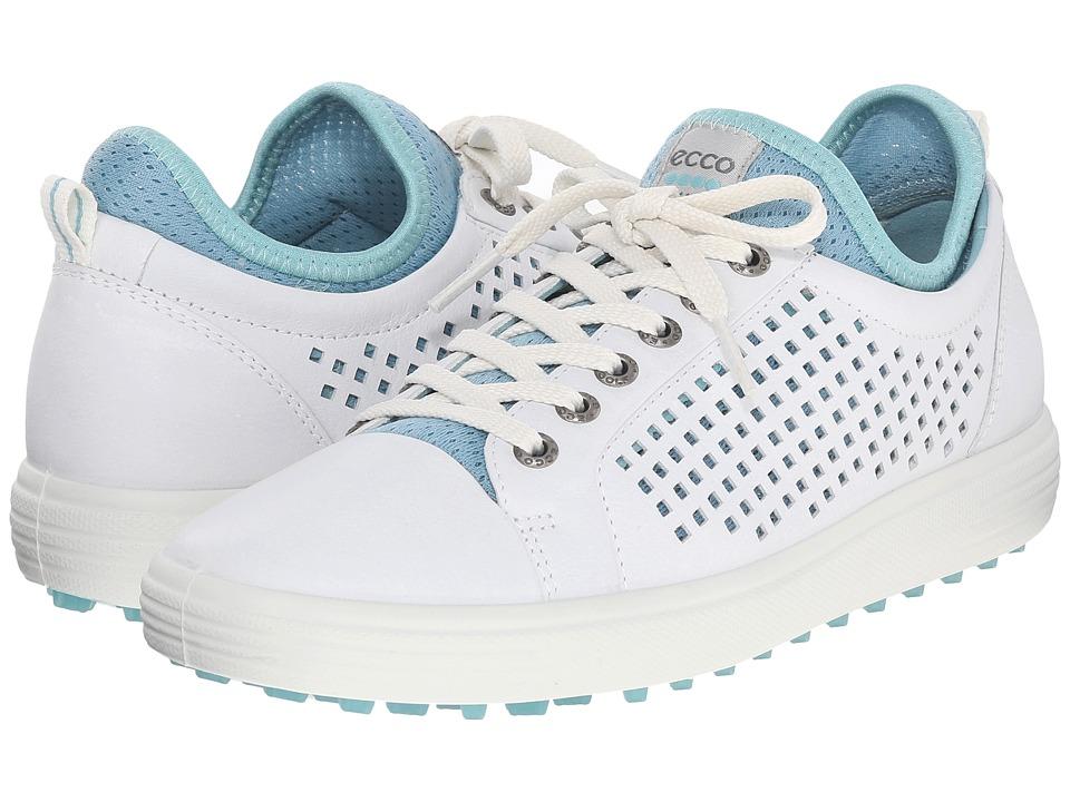 ECCO Golf - Summer Hybrid (White/Aquatic) Womens Golf Shoes