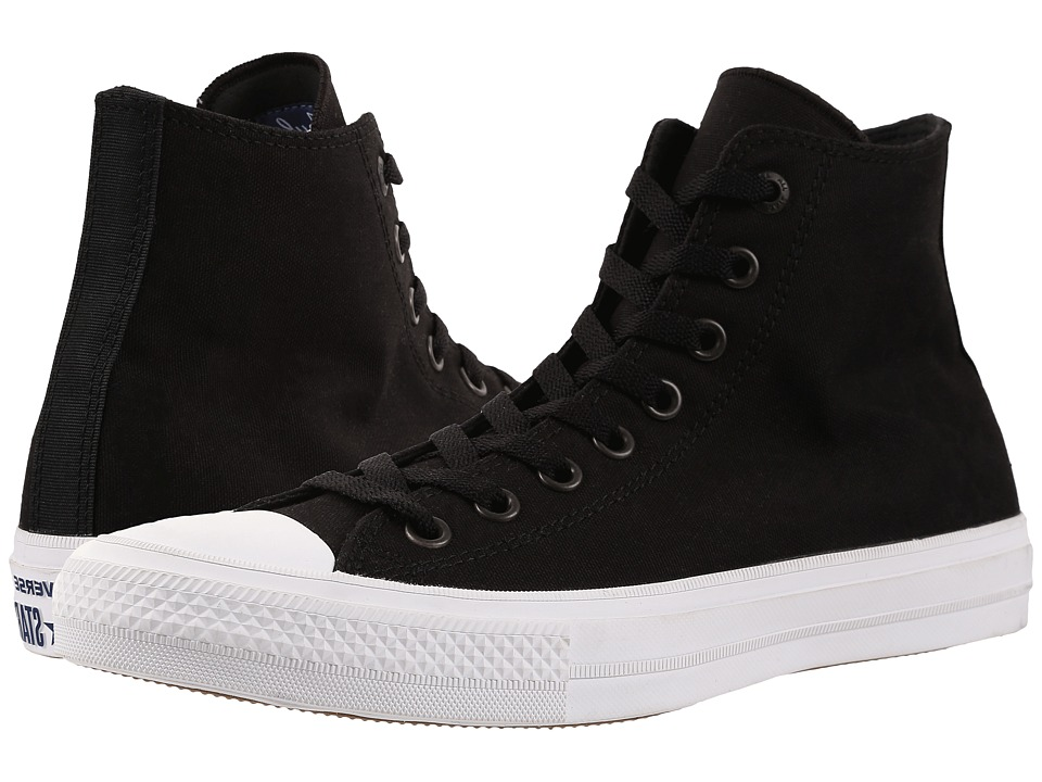 Converse Chuck Taylor All Star II Hi (Black/White/Navy) Classic Shoes