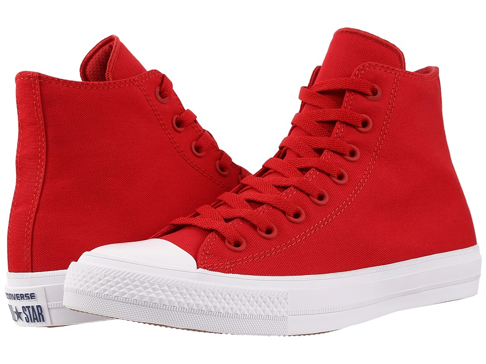 Converse Chuck Taylor All Star II Hi (Salsa Red/White/Navy) Classic Shoes