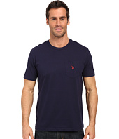 U.S. POLO ASSN. - Solid Crew Neck Pocket T-Shirt
