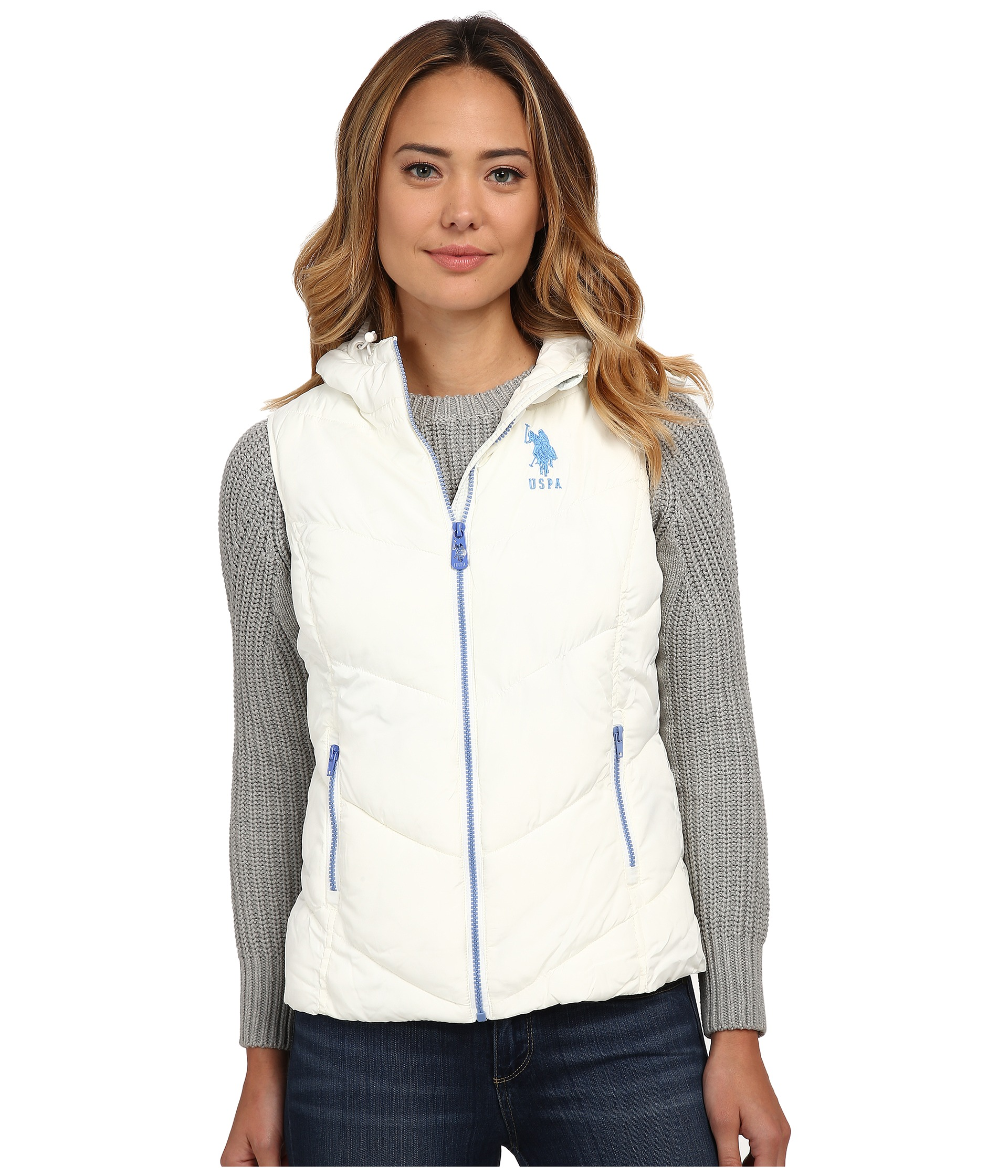 U.S. POLO ASSN. Hooded Vest with Contrast Zippers $34.99 (33% off MSRP $52.00