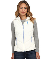 U.S. POLO ASSN. - Hooded Vest with Contrast Zippers