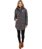 U.S. POLO ASSN. - Long Hooded Puffer with Ribbon Taping Detail