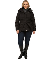 U.S. POLO ASSN. - Plus Size Hooded Puffer with Self Tie Belt