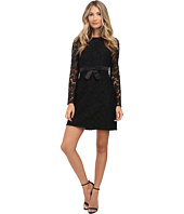 JILL JILL STUART - Long Sleeve Floral Lace Short Dress