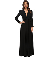 JILL JILL STUART - Long Sleeve Deep V Washed Georgette Gown