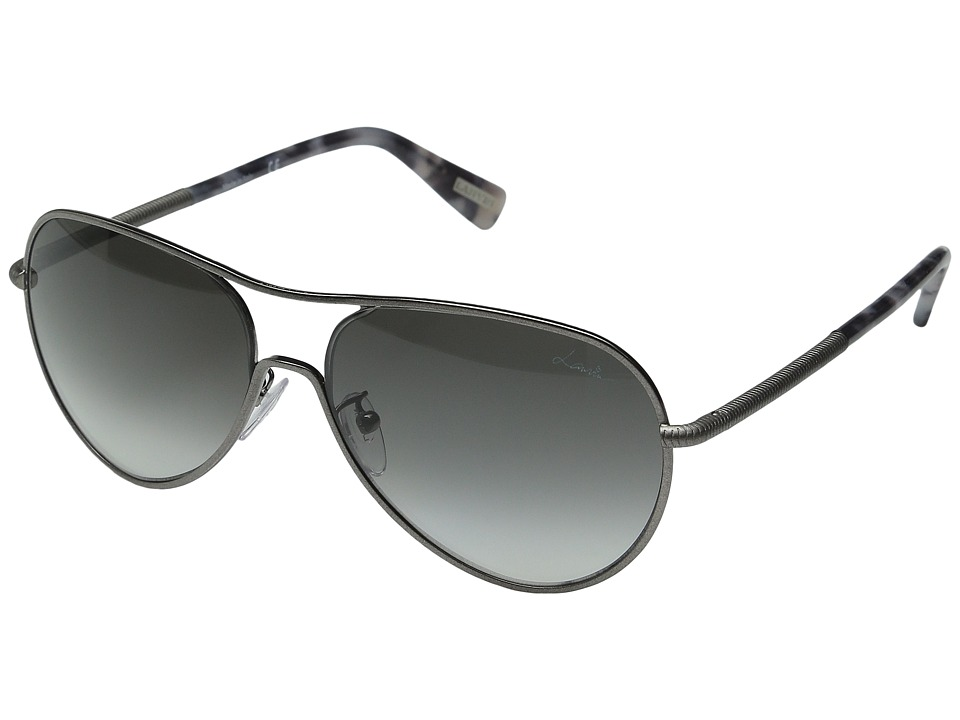 Lanvin SLN 049 Satin Gray/Gradient Gray Fashion Sunglasses