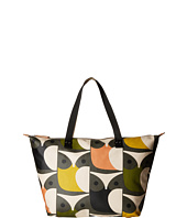 Orla Kiely - Matt Laminated Big Owl Print Zip Shopper