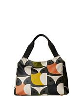 Orla Kiely - Matt Laminated Big Owl Print Classic Zip Shoulder Bag