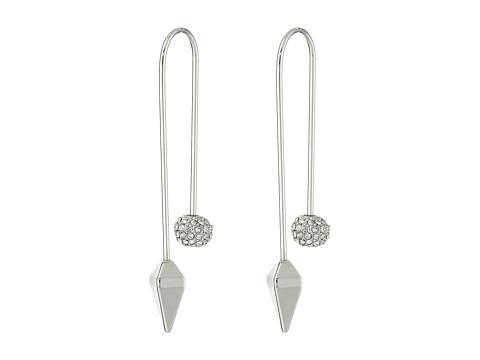 Rebecca Minkoff Cube/Ball Threader Earrings - Imitation Rhodium/Crystal