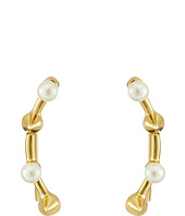 Rebecca Minkoff - Pearl Cone Climber Earrings