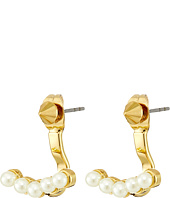 Rebecca Minkoff - Two Part Pearl Earrings