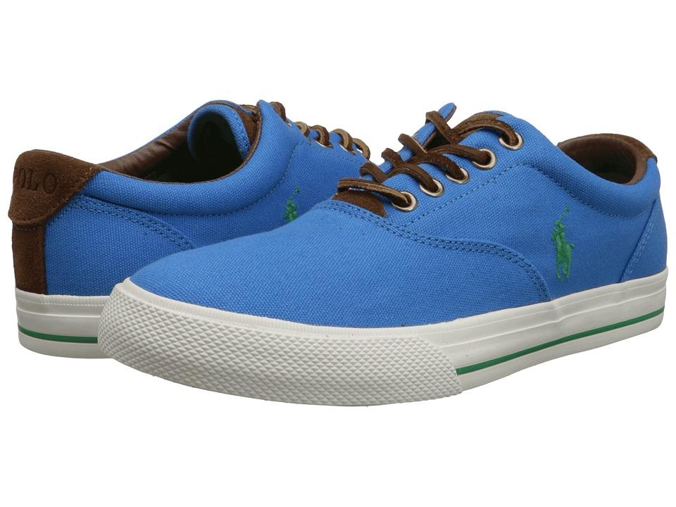 Polo Ralph Lauren - Vaughn (Chroma Blue Canvas/Sport Suede) Men